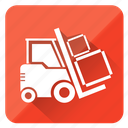 business, business & trade, deliver, delivert, loader, truckter, vehicle, warehouse icon