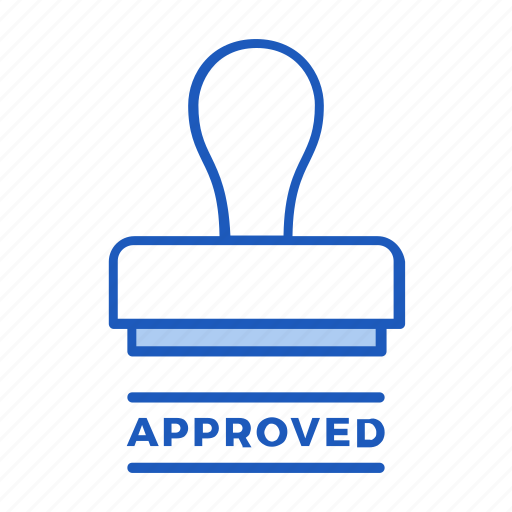 approval, approved, business, document, office, stamp icon