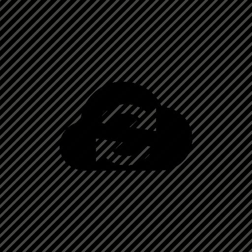 arrow, arrows, cloud, refresh, reload, sync, update icon
