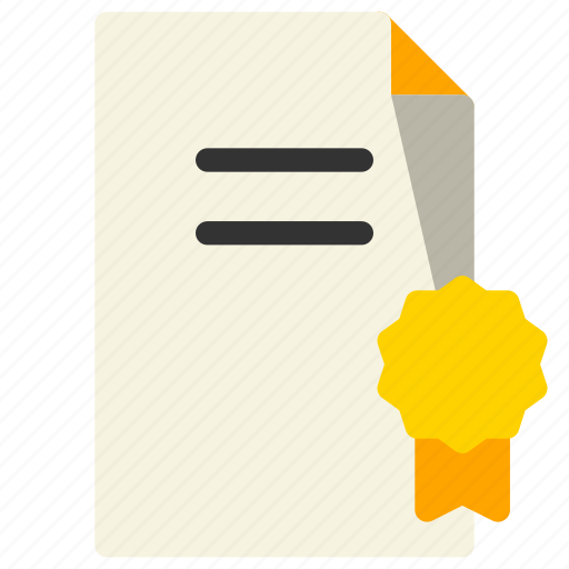 award, certificate, document, legal, license icon