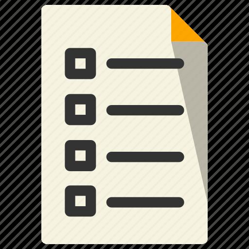 checklist, document, file, paper icon