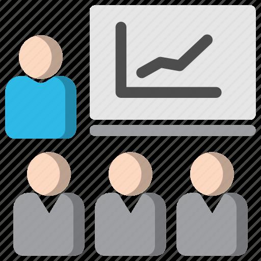 business, meeting, presentation, study, training icon
