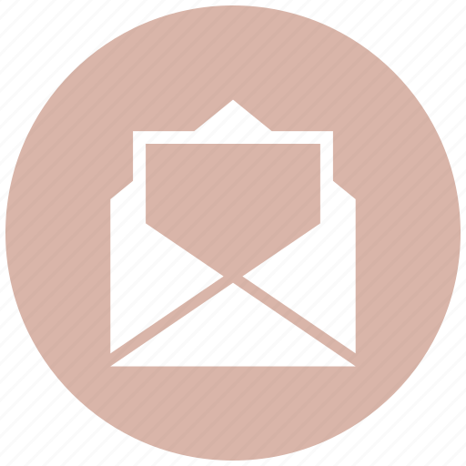 document, envelope, mail, open icon