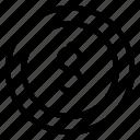 cash, coin, dollar, money icon icon