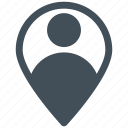 location, map, navigation, pin, user icon icon