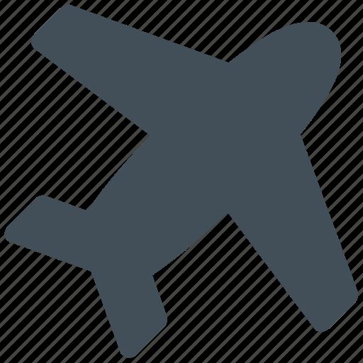 aeroplane, airlines, flight, plane icon icon