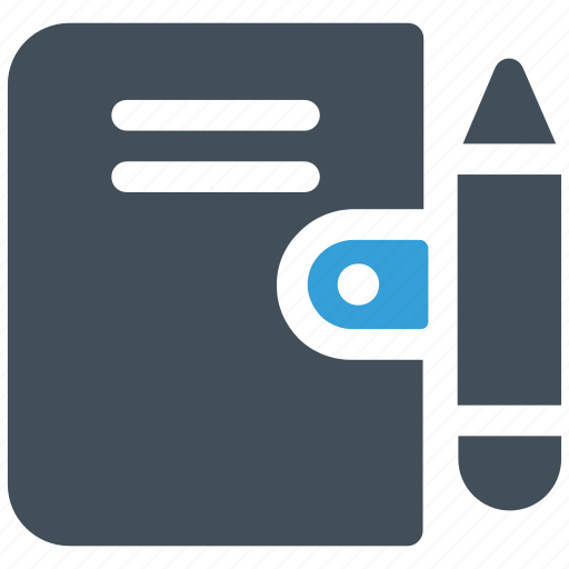 diary, note, notebook, pen icon icon