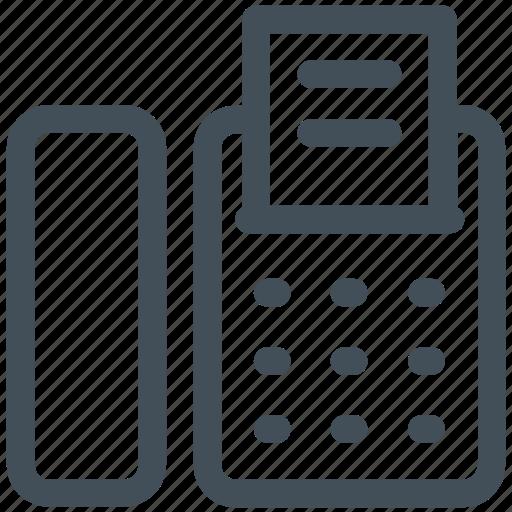fax, fax machine icon icon