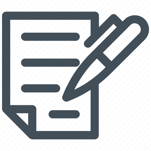 contract, document, pencil, writing icon icon