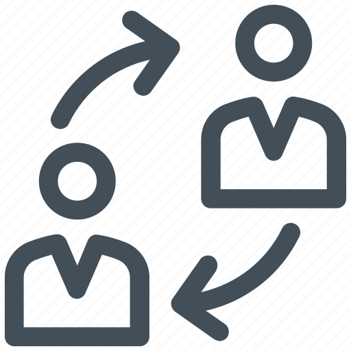 colleague, employee, exchange, people, share icon icon