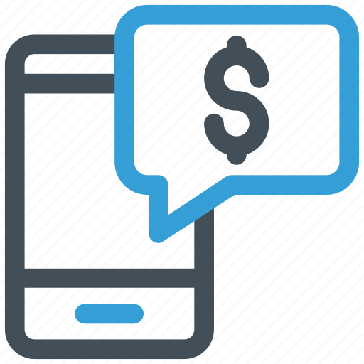 banking, chat bubble, dollar, mobile, sms banking icon icon
