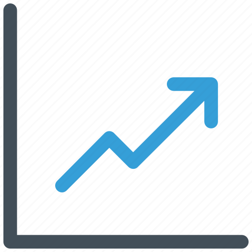 arrow, bars, chart, growth, sales icon icon