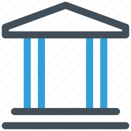 bank, courthouse, finance icon icon
