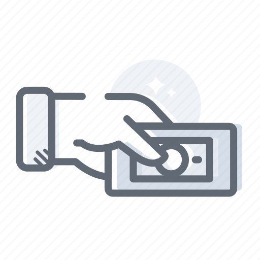 business, dollar, hand, money, payment icon
