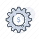 business, finance, gear, options, settings icon