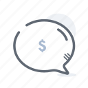 business, chat, conversation, finance, support icon