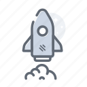 business, launch, rocket, space, startup icon