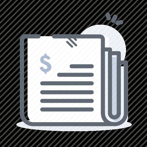 business, finance, news, newsletter, newspaper icon