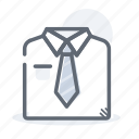 business, finance, shirt, tie, uniform icon
