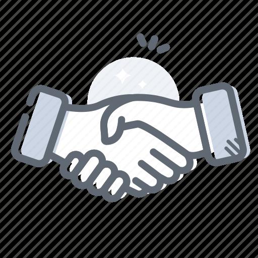 agreement, deal, finance, handshake, partnership icon