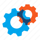 cogs, cogwheels, gears, settings icon