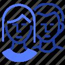 boy, couple, girl, users icon