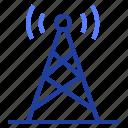 broadcasting, media, tower, tv icon