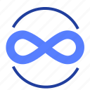 infinite, forever, eight, eternity sign icon