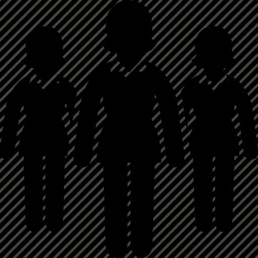 business, executives, team, woman, women icon