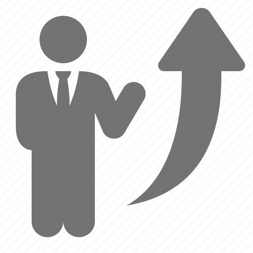arrow, business, businessmen, growth, increase, raise, up icon