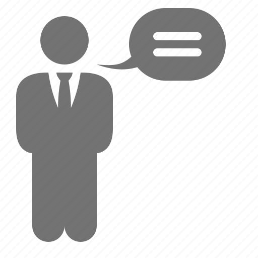 bubble, businessmen, chat, conversation, speech, talk icon