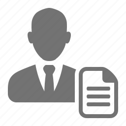 businessmen, cv, employee, job, profile, resume icon