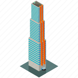architecture, building, estate, office, skyscraper icon