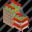 architecture, building, businesses, parasol, stool, terrace icon