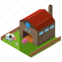 farm, agriculture, animal, building, nature icon