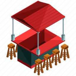 businesses, food, restaurant, seat, stand, stool icon