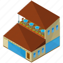 restaurant, building, table, terrace icon