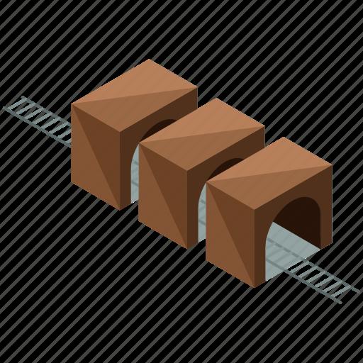 railroad, railway, round, transportation, tunnels icon