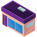 architecture, building, businesses, shop, store icon