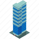 building, skyscraper, architecture, hotel icon