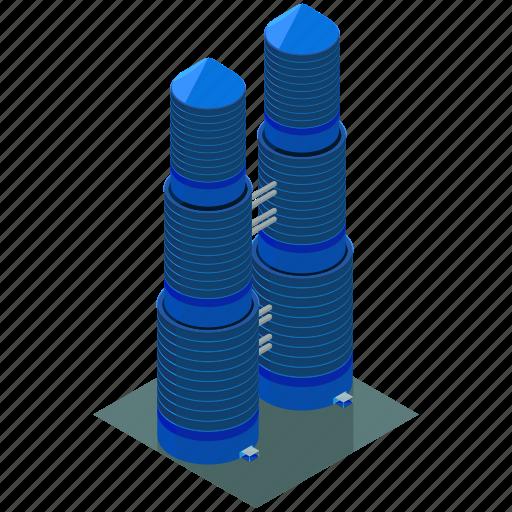 architecture, building, businesses, skyscraper, towers icon