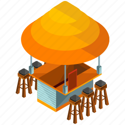 businesses, food, restaurant, stand, stool, terrace icon