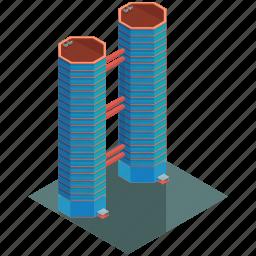 architecture, building, businesses, skyscraper, tower icon