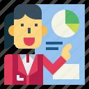 businesswoman, graph, presentation, suit, woman