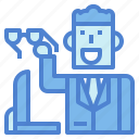 businessman, glasses, man, suit, working