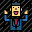 businessman, good, smile, suit, trumbs, up