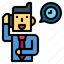 businessman, call, man, suit, time