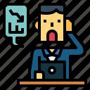businessman, graph, man, stress, working