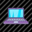 cartoon, computer, laptop, modern, notebook, screen, sign