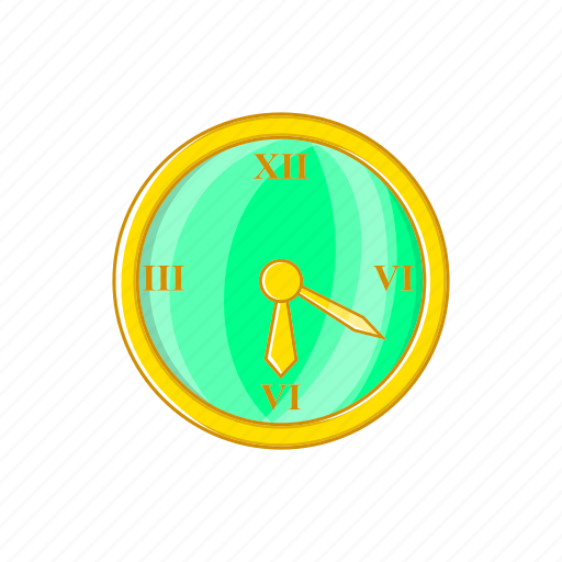 cartoon, clock, sign, time, timer, wake, wall icon